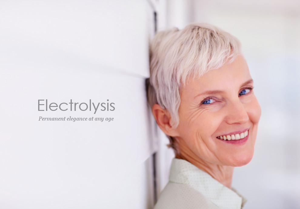 Electrolysis removes unwanted white hair, gray hair, red hair, and blonde hair
